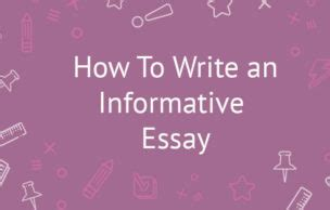 Thesis in informative writing
